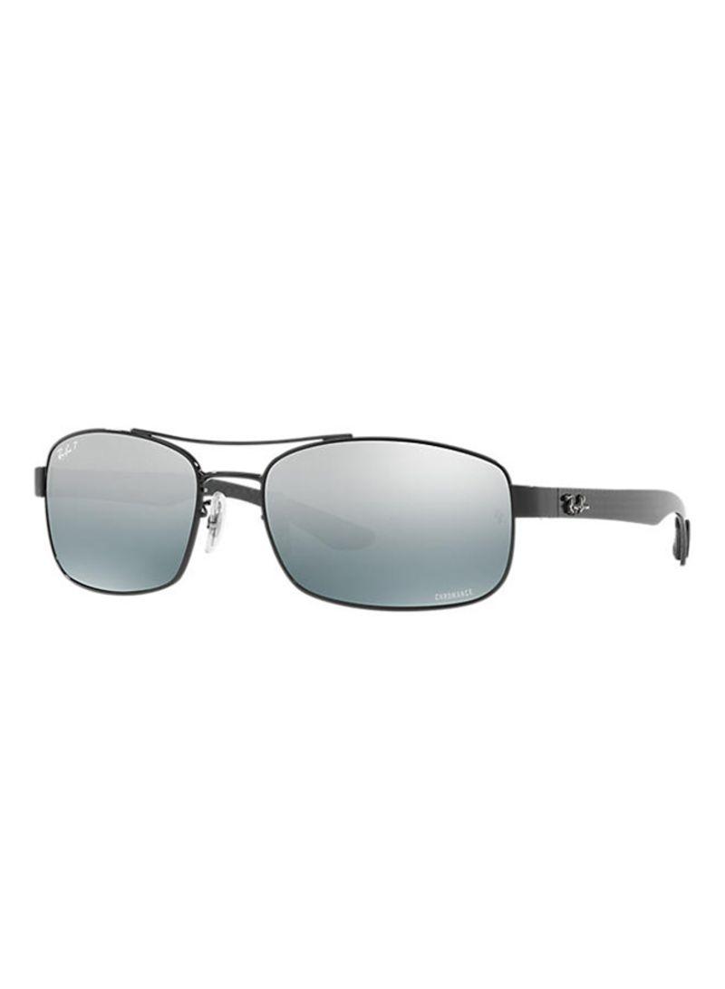 c47903563e otherOffersImg v1506415915 N12183365A 1. Ray-Ban. Men s Chromance Polarized  Rectangle Sunglasses 002 5L RB8318CH