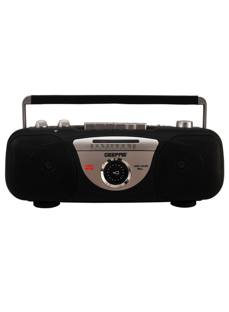 baa783281 Portable Radio With Cassette Recorder - Player - FM Radio And USB - MP3 -  TF Card Slots GRC3430 Black
