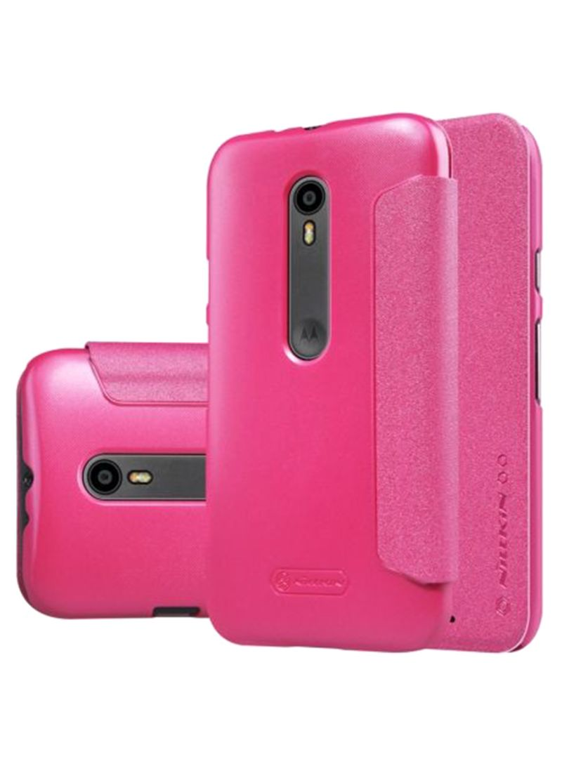 online store afb2c c270b Shop Nillkin Sparkle Series Flip Case Cover For Motorola Moto G3 Pink  online in Dubai, Abu Dhabi and all UAE