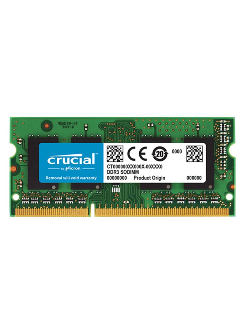 Shop Crucial 8gb Ddr3 1600 Ram For Laptop Green Online In Dubai Abu