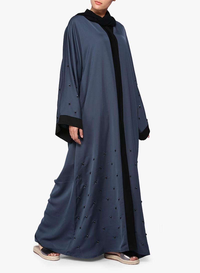 22ff2baa2 عباية مطرزة رمادي | ملابس شعبية | كان بكام .كوم