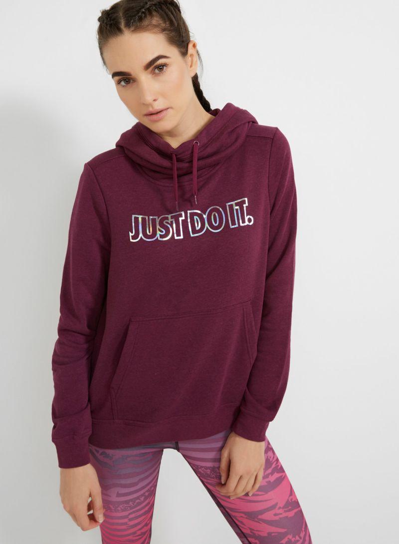 86f0e8d262c4 Fleece Metallic Sweatshirt Red