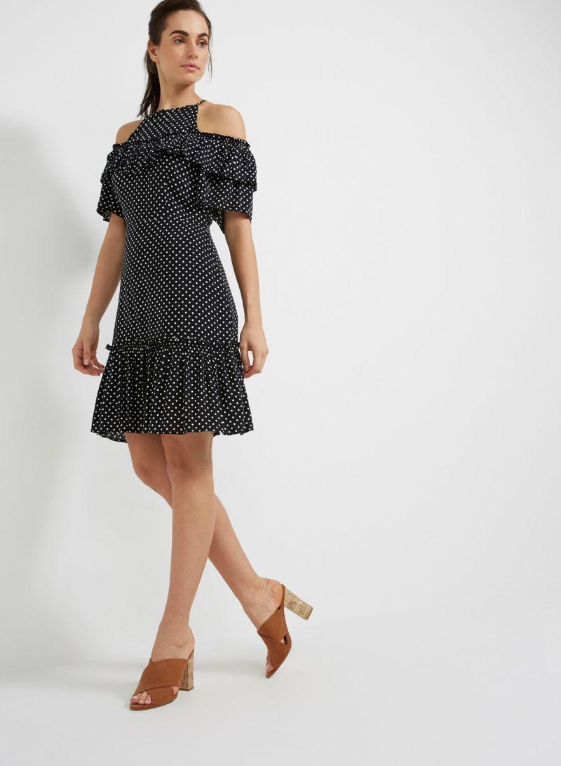 c62804745584f سعر فستان منقط بدون أكمام أسود فى السعودية