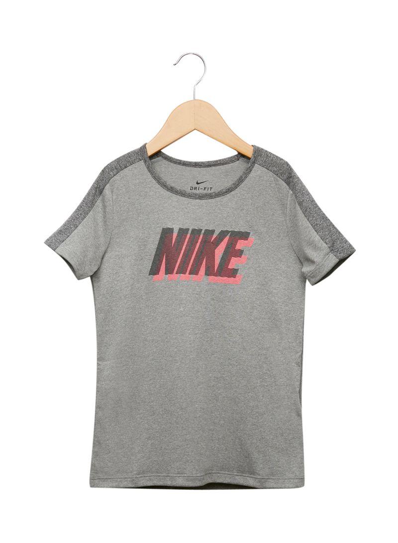 40bf177bf Shop Nike Kids Dry Training T-Shirt Grey online in Dubai, Abu Dhabi ...
