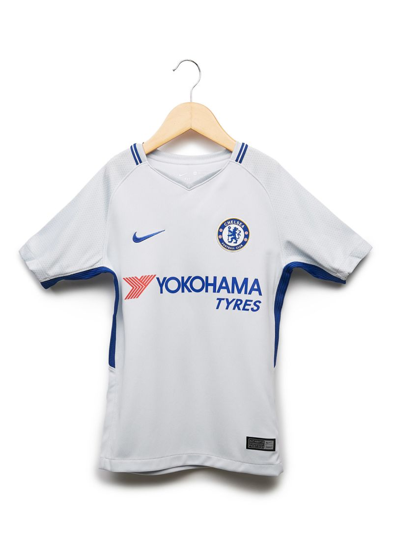 Shop Nike Kids Chelsea FC Stadium Home Football Jersey White online ... 468ae641b