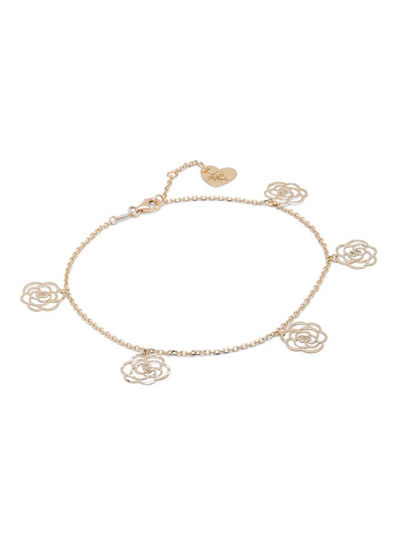 bf78c34c4de16b Farfasha 18K Gold Diamond Cut Flower Anklet Price in Saudi Arabia ...