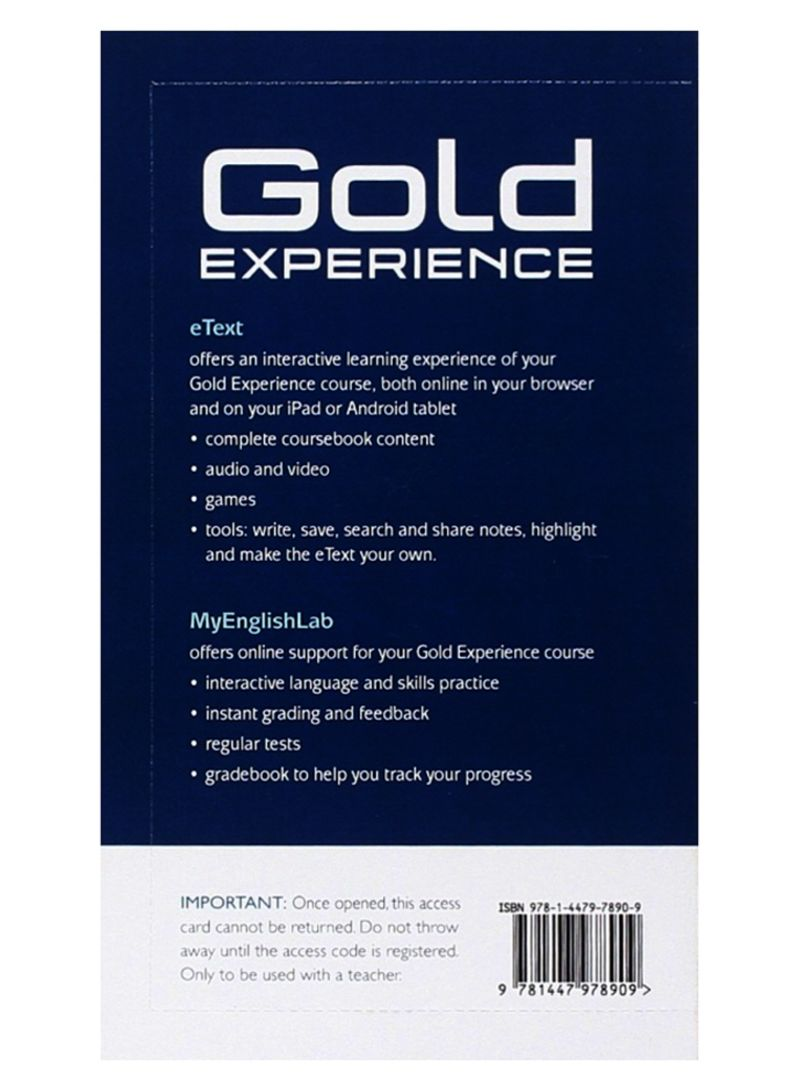 Shop Gold Experience A2 eText & MyEnglishLab Student Access Card