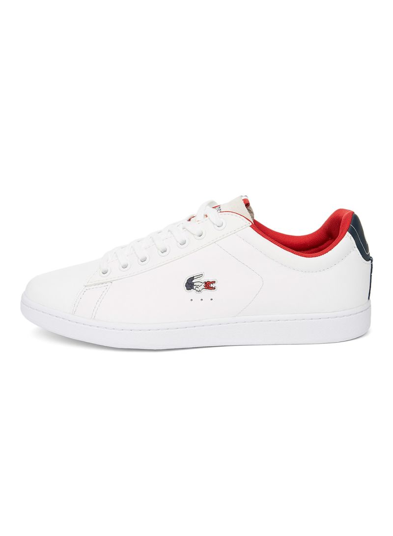 2da20962e Shop Lacoste Carnaby Evo Leather Trainers With Tricolor Croc online ...