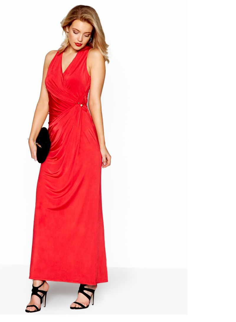 bc089d61139d Debut Jersey  Josephine  V-Neck Maxi Dress Red Price in Saudi Arabia ...