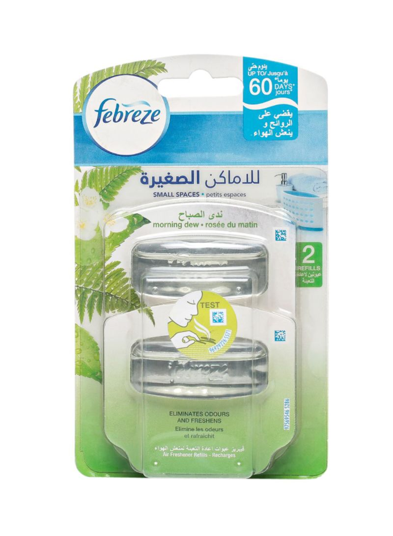 2-Piece Air Freshner Small Spaces Refill Set - Morning Dew 5