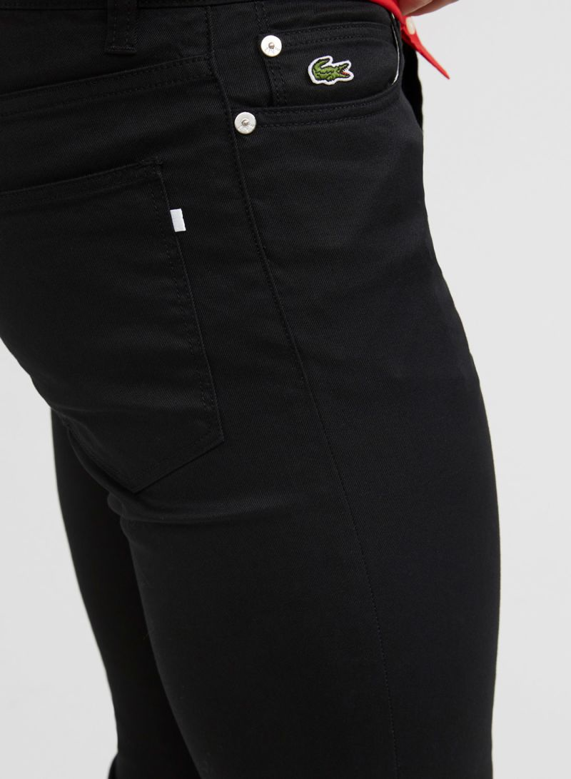 5602e0e8 Shop Lacoste 5 Pocket Style Trousers Black online in Dubai, Abu ...
