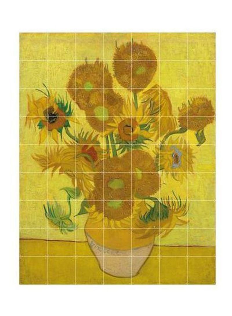 Sunflowers Wall Art Multicolour L | Home Decor | kanbkam.com
