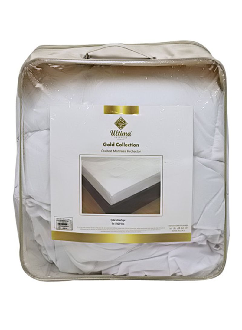 Shop PAN Emirates Ultima Quilted Mattress Topper Polyester White