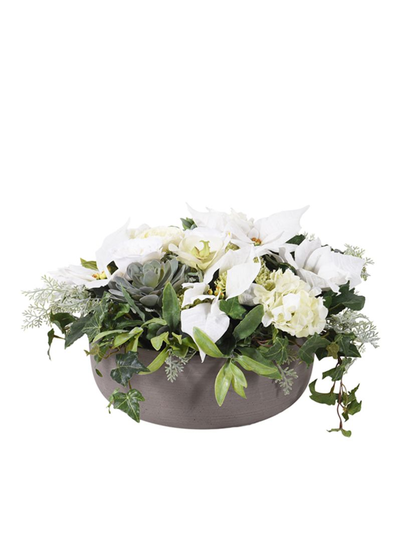 Christmas Flower Arrangements Artificial.Shop The Little Green House Artificial White Christmas Flower Arrangement White 28 Centimeter Online In Dubai Abu Dhabi And All Uae