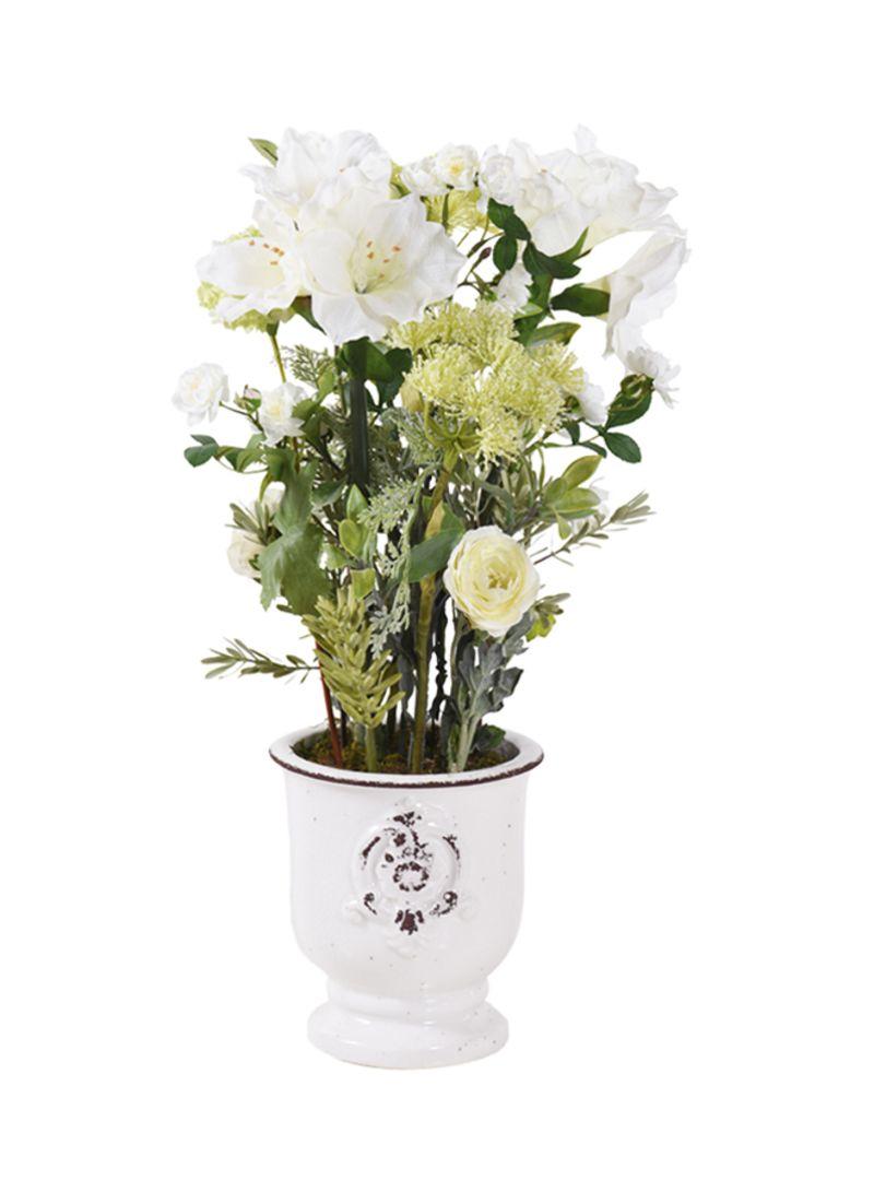 Artificial Flower Arrangement White 68 Centimeter Price In Uae Noon Uae Kanbkam