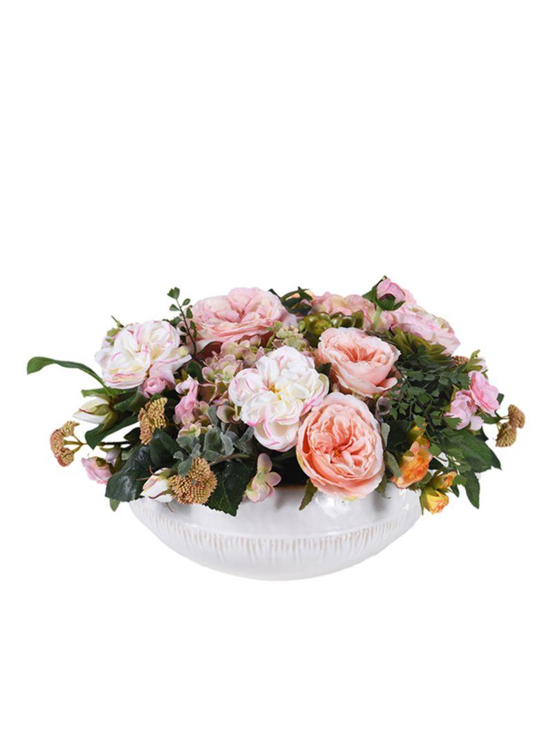 Artificial Flower Arrangement Pink 28centimeter Price In Uae Noon Uae Kanbkam