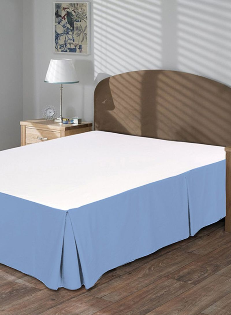 Light Blue Bed Skirt.Shop Misr Linen Solid Collection Pleated Bedskirt Cotton Light Blue King Online In Dubai Abu Dhabi And All Uae
