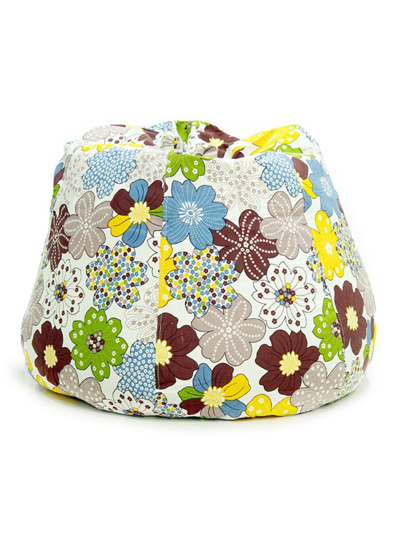 Swell Bean Bag Cover With Floral Pattern Brown Blue Green Xxl Theyellowbook Wood Chair Design Ideas Theyellowbookinfo