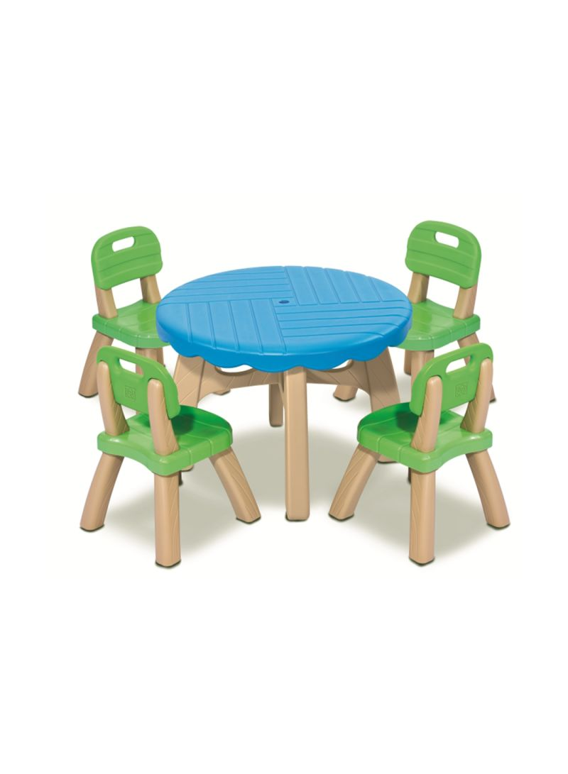 Summertime patio set with 4 chair