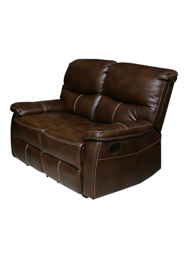 Shop Pan Emirates 2 Seater Gregson Recliner Sofa Brown Online In