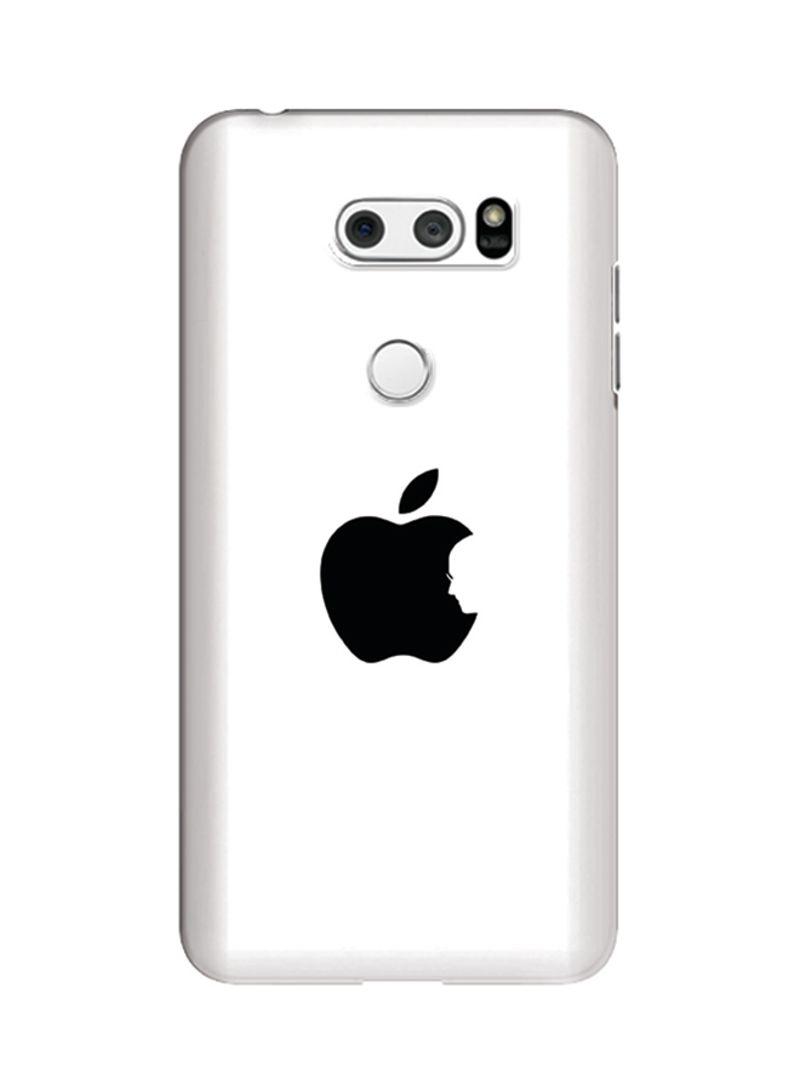 Polycarbonate Slim Snap Case Cover Matte Finish For LG V30 Steve's Apple  White
