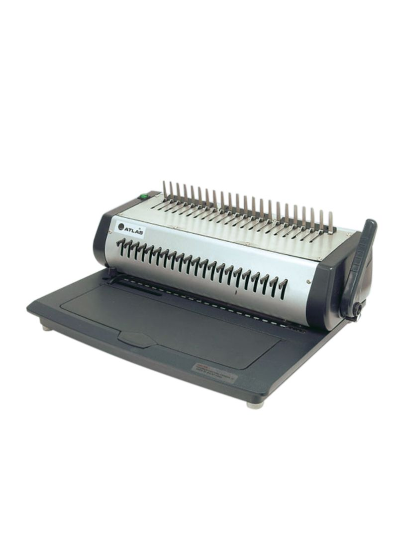 Electric Plastic Comb Binding Machine Silver