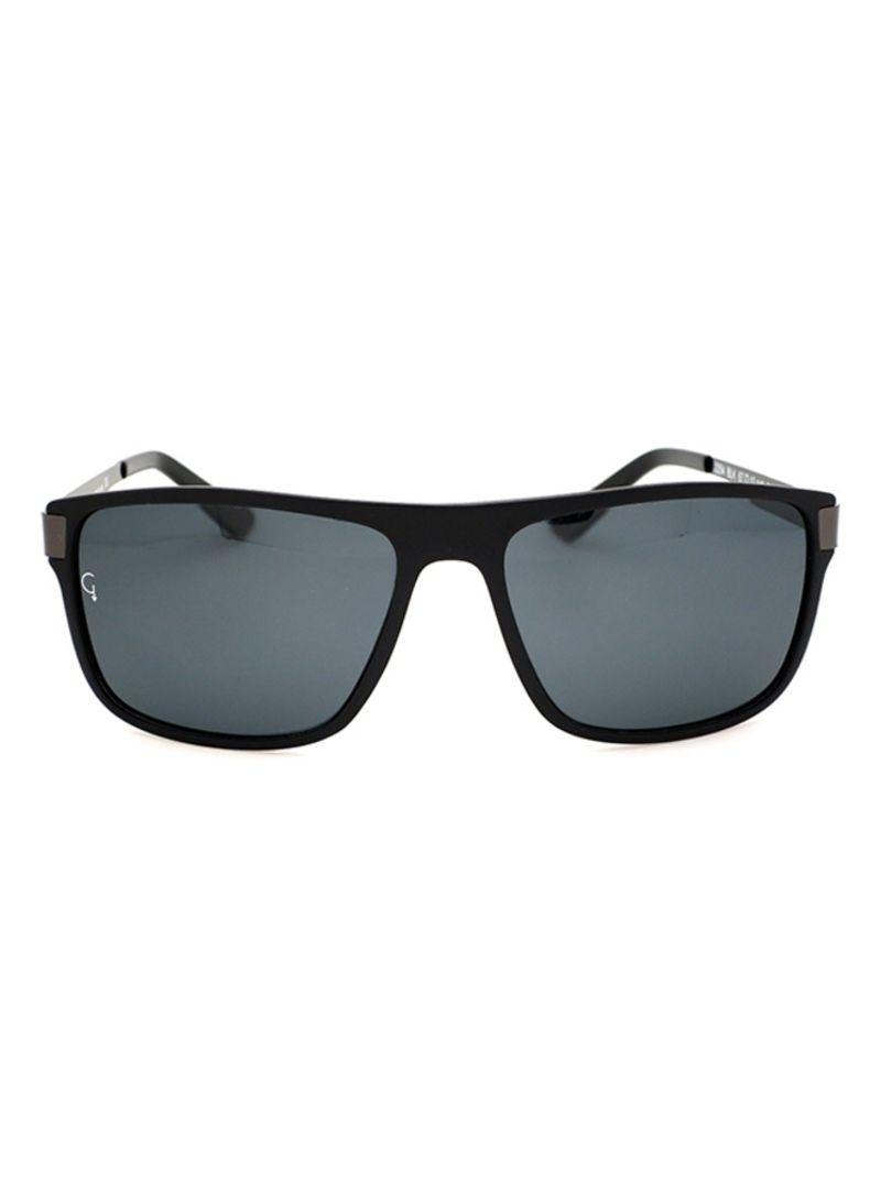 4c676e534051 Shop Gravity Rectangular Polarized Sunglasses SGT2254BLK online in ...