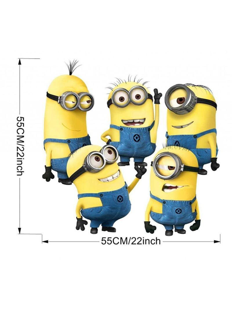 Minions Movie Cartoon Removable Wall Sticker Yellow/Blue | Home ...