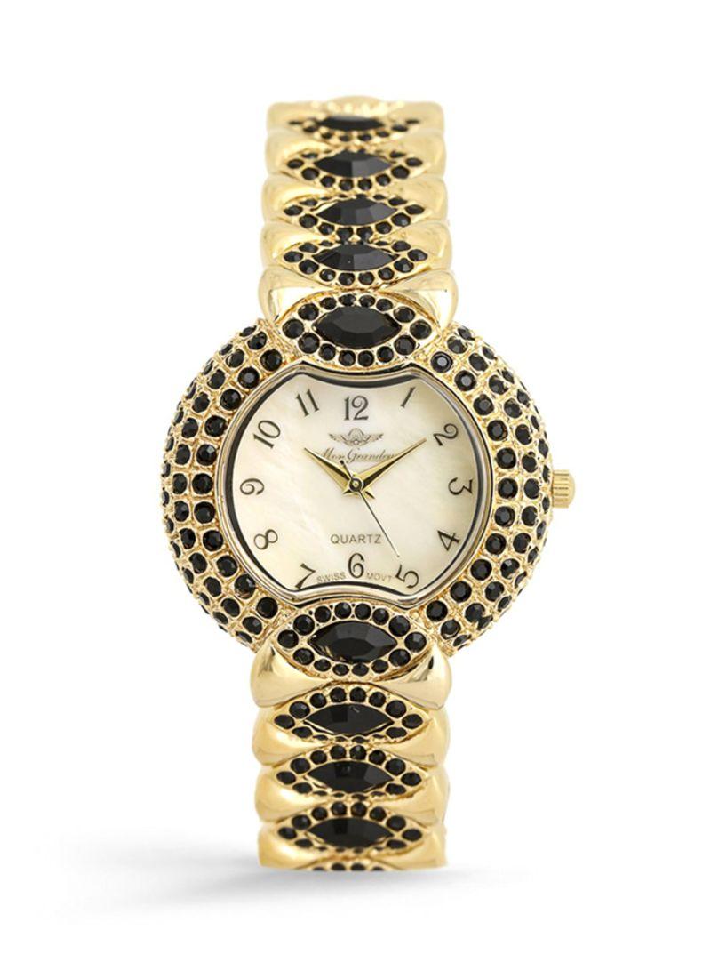 45112beecd800 اشتري ساعة يد بعقارب مرصعة بالأحجار المتلألئة طراز GR-IN62392 للنساء في  السعودية