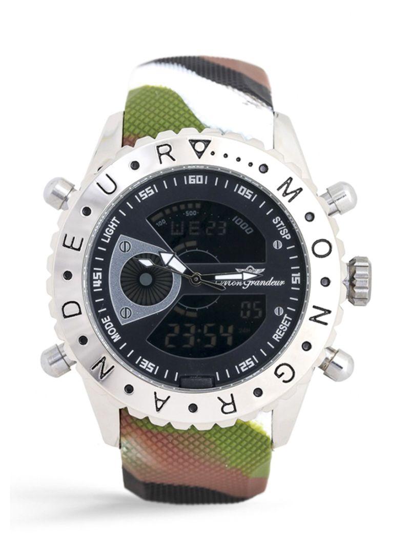 420b1f790 ساعة يد عقارب ورقمية مضادة للماء طراز GF-12180G للرجال. 55.00. ريال سعودي