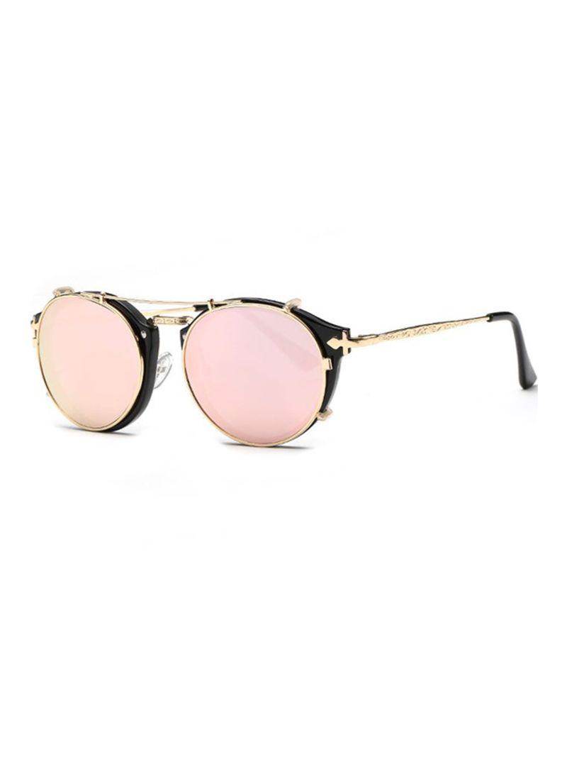 Shop Ding Fu Retro Dual Use Round Frame Sunglasses B1813-C4 online in  Dubai, Abu Dhabi and all UAE
