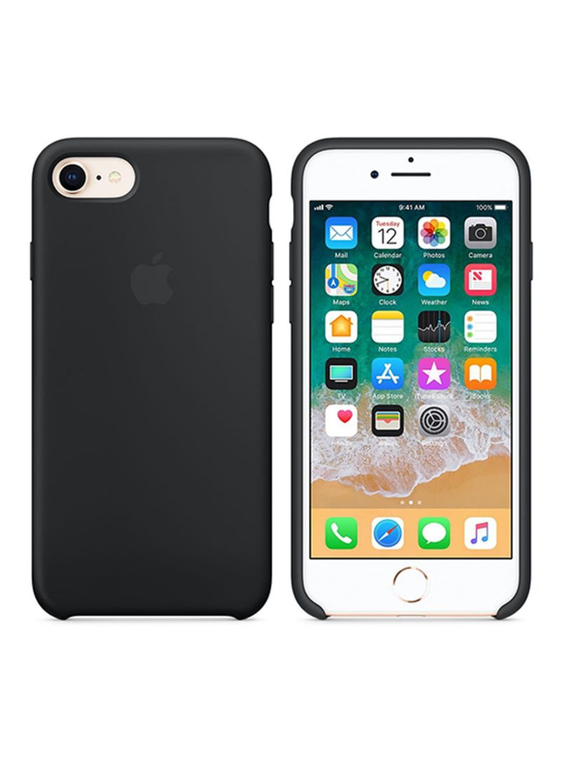 Silicone Case Cover For Apple iPhone 8/7 Black