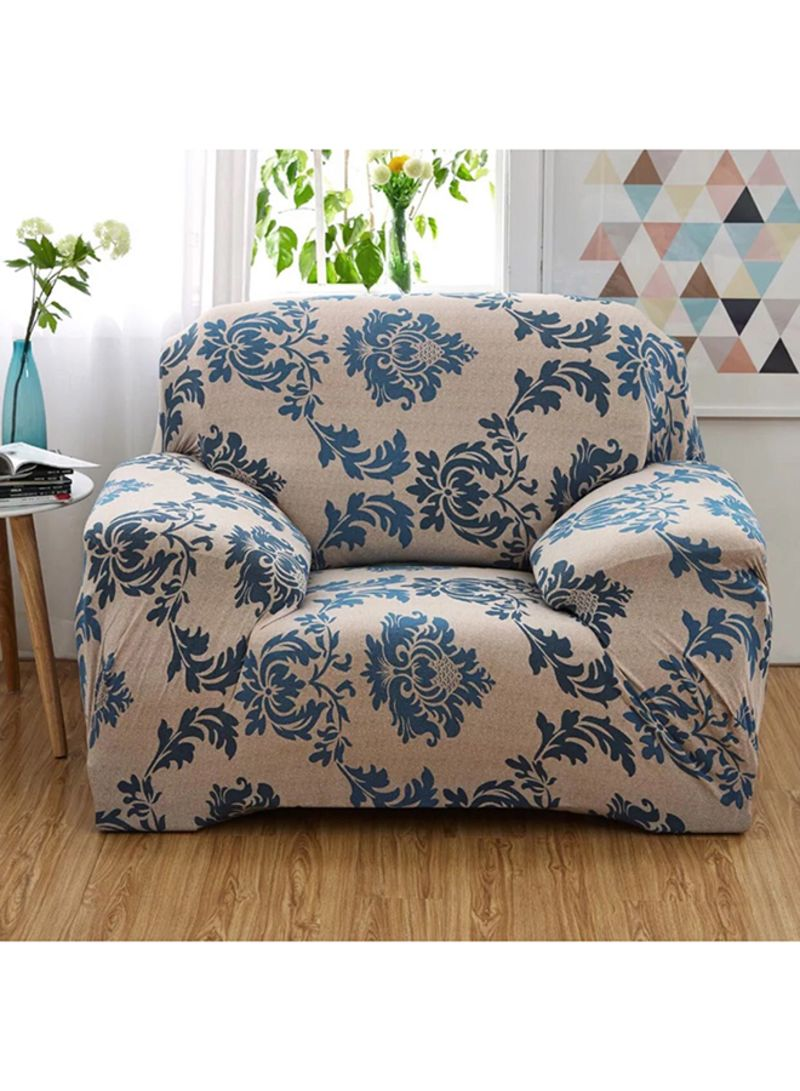 One Seater Sofa Cover Beige Blue Price