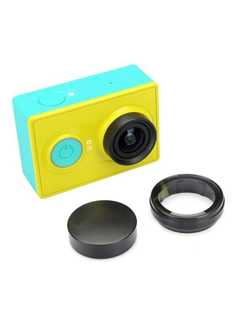 Ozone UV Filter With Lens Cap Protective Set For Xiaomi Yi Camera Black