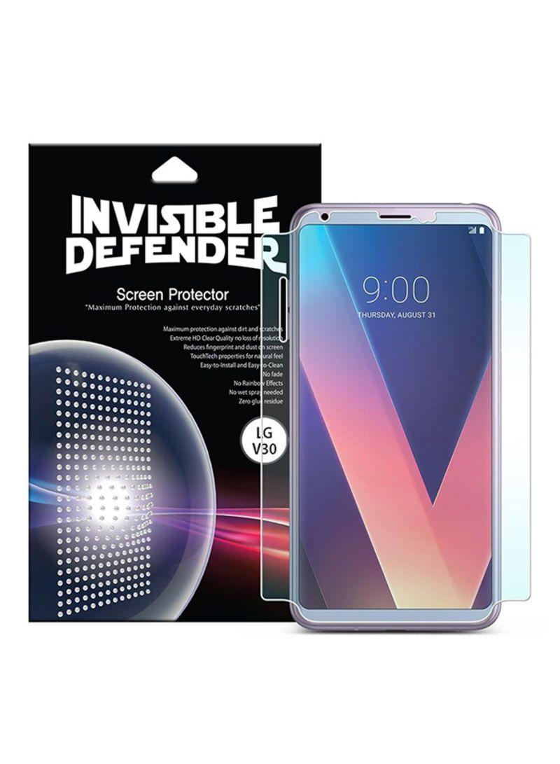 Shop Rearth Full Coverage HD Clarity Screen Protector For LG V30 Clear  online in Dubai, Abu Dhabi and all UAE