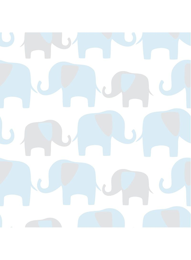 Shop Wall Pops Elephant Parade Peel And Stick Wallpaper Blue 20 5 X 0 1 X 216inch Online In Dubai Abu Dhabi And All Uae