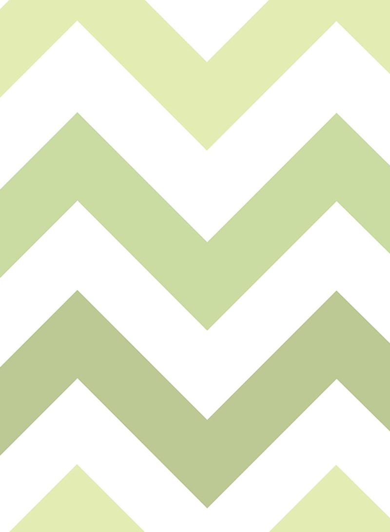 Shop Wall Pops Zig Zag Peel And Stick Wallpaper Green 20 5 X 0 1 X 216inch Online In Dubai Abu Dhabi And All Uae