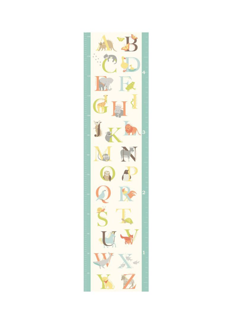 Shop Wall Pops Abc Jungle Growth Chart Decal Multicolour Online In