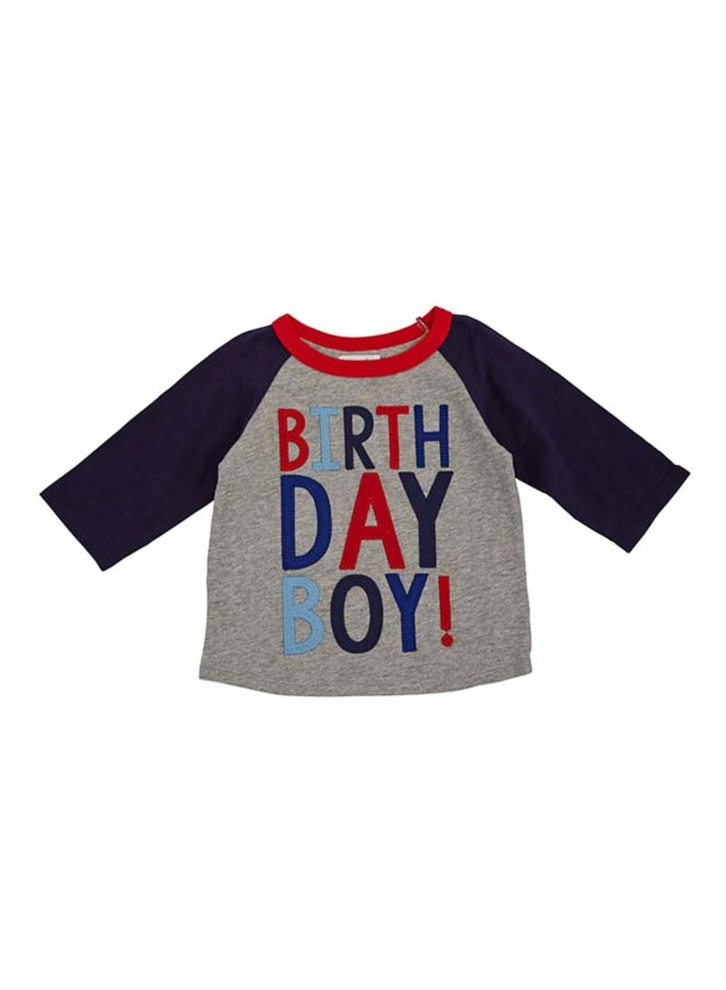 Buy 1 Birthday Boy Cape T Shirt Blue Grey In Saudi Arabia