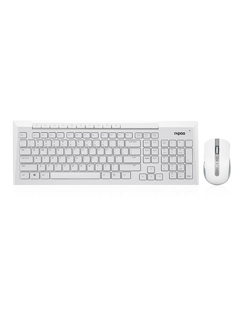 03291bf49ef otherOffersImg_v1512382207/N12822236A_1. Rapoo. 8200P Wireless Optical Mouse  With Multimedia Keyboard White