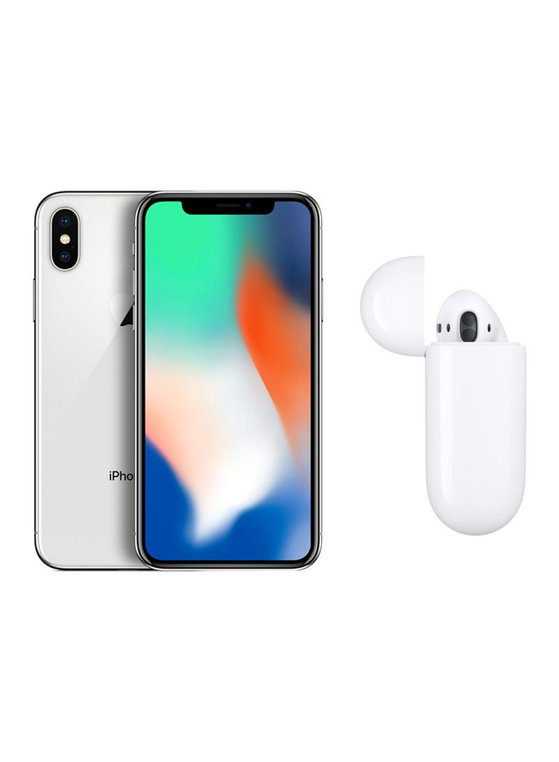 shop apple iphone x with facetime silver 256gb 4g lte with. Black Bedroom Furniture Sets. Home Design Ideas