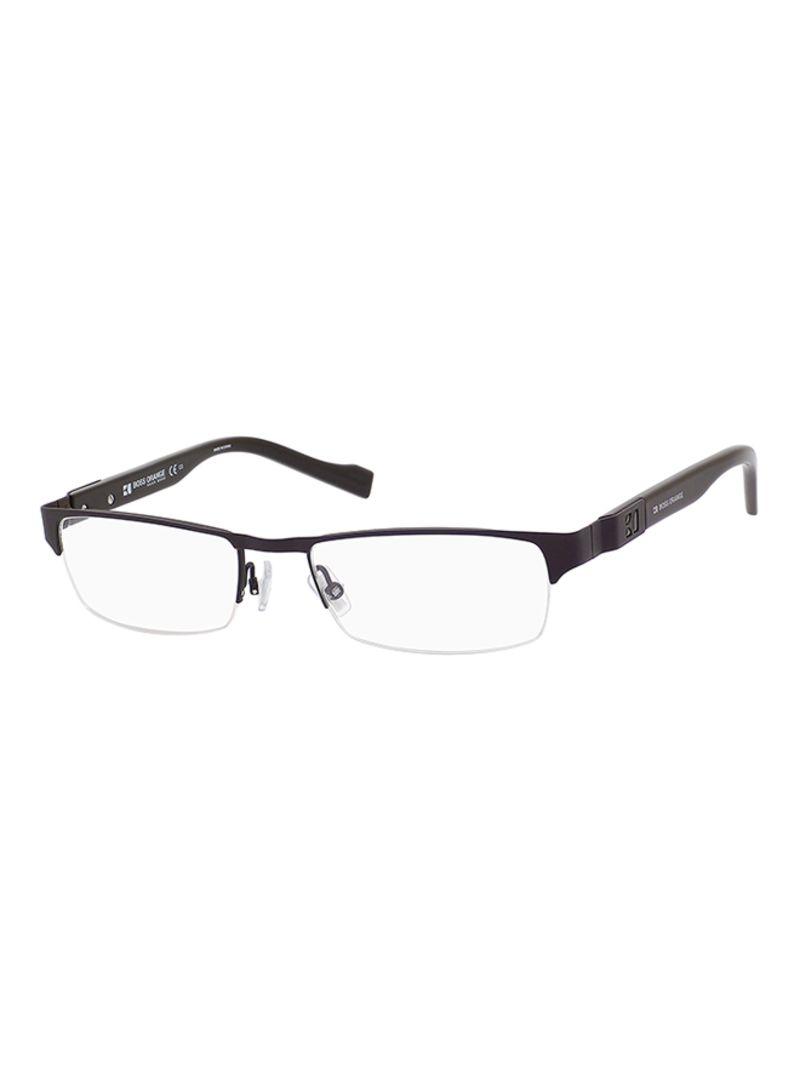 8021150ac0621 تسوق بوس وإطار نظارة طبية مستطيل بنصف حافة طراز 0080-S05-52 للرجال ...