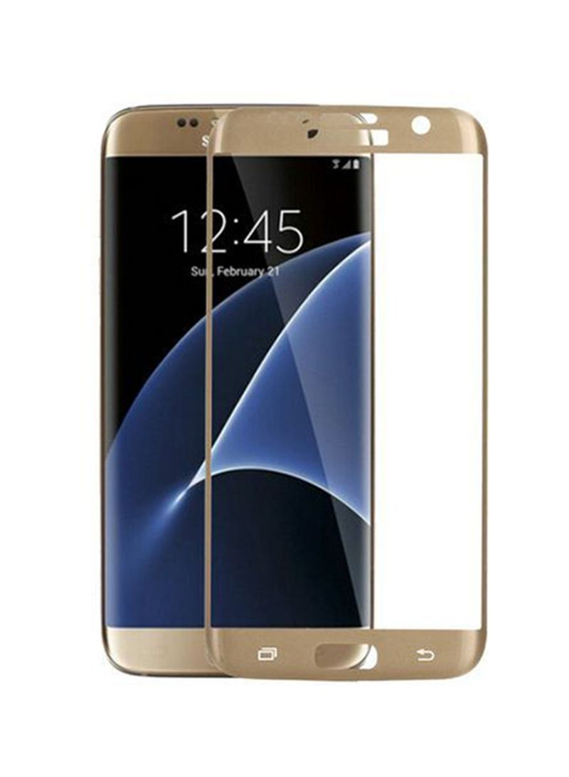 Ultra Thin Tempered Glass Screen Protector For Samsung Galaxy S7 Edge Gold