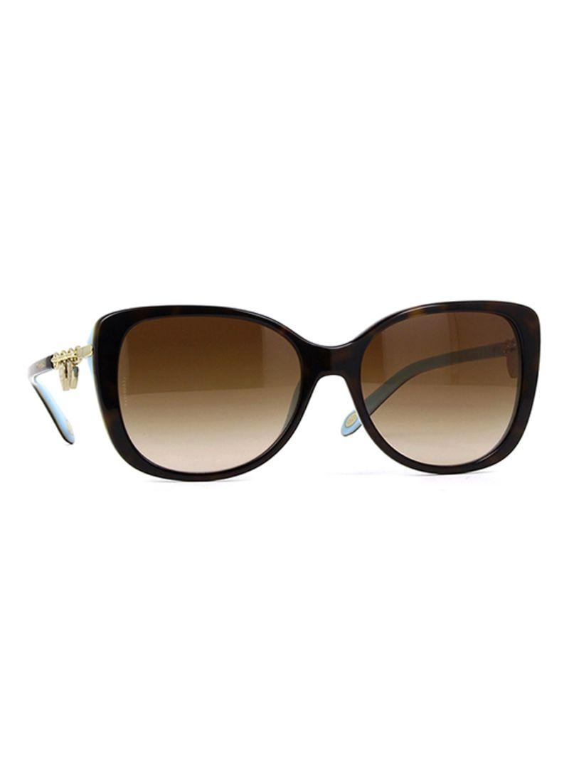 e95a1a60a1b Shop Tiffany Women s Full Rim Rectangular Sunglasses 4129-8134-3B-56 ...