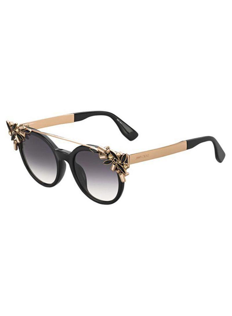 476f53ad7cee5 Shop Jimmy Choo Women s Full Rim Cat Eye Sunglasses VIVY-06K-9C ...