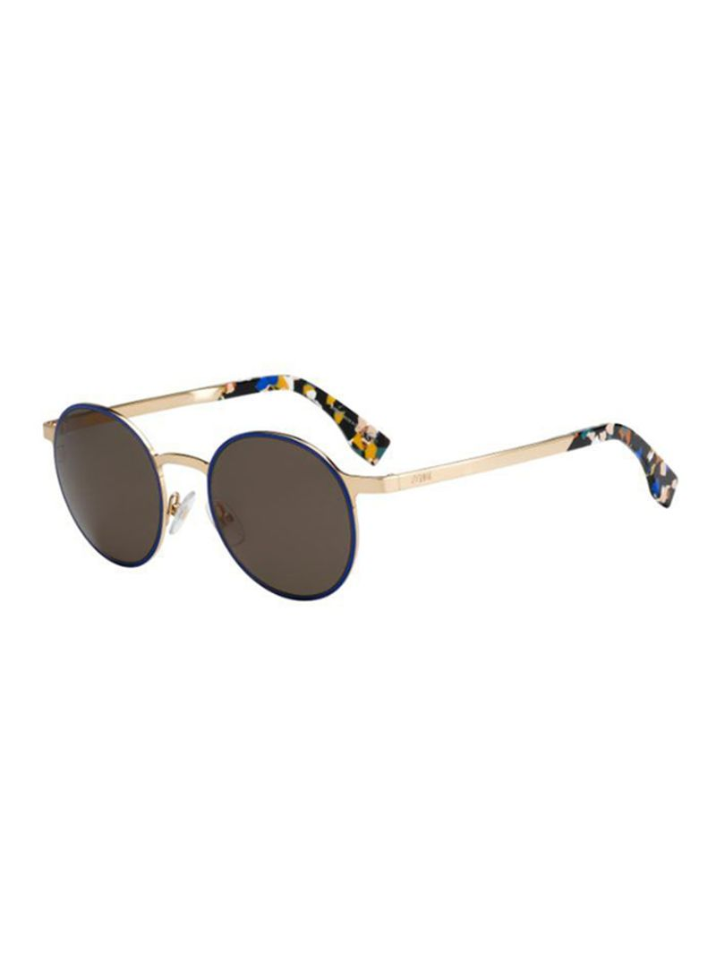a5a4c578ba1d Shop Fendi Women s Full Rim Round Sunglasses FF0090 S-D43 online in ...