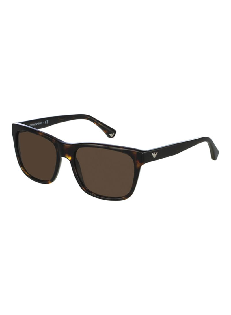 ccfb51bbd59 Shop Emporio Armani Men s Full Rim Wayfarer Sunglasses EA4041-5026 ...