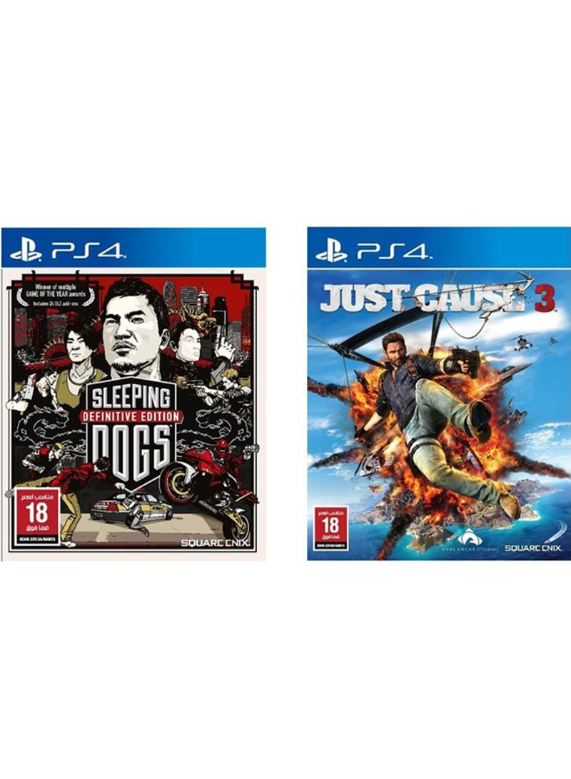 Bundle Of 2 Games Sleeping Dogs Definitive Edition Just Cause 3 Ps4 Nba 2k18 Tip Off Reg Playstation 4