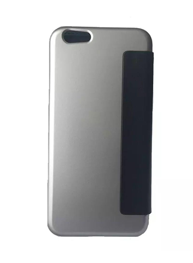 Posh Leather Flip Case For Apple iPhone 6/6s Grey/Black Price in