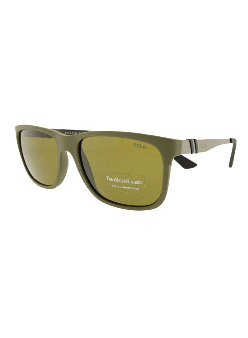 5f56aded3c0b Shop Polo Ralph Lauren Men's Rectangular Frame Sunglasses 4088 C ...